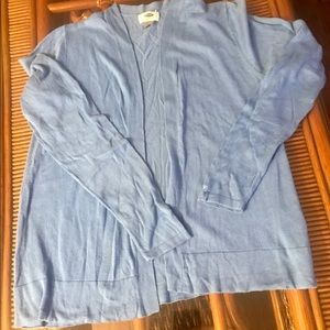 Old Navy Blue Cardigan Open Front Size Medium